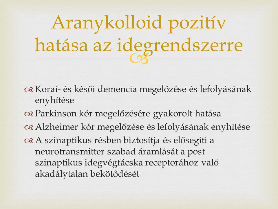 Aranykolloid pozitív hatása az idegrendszerre