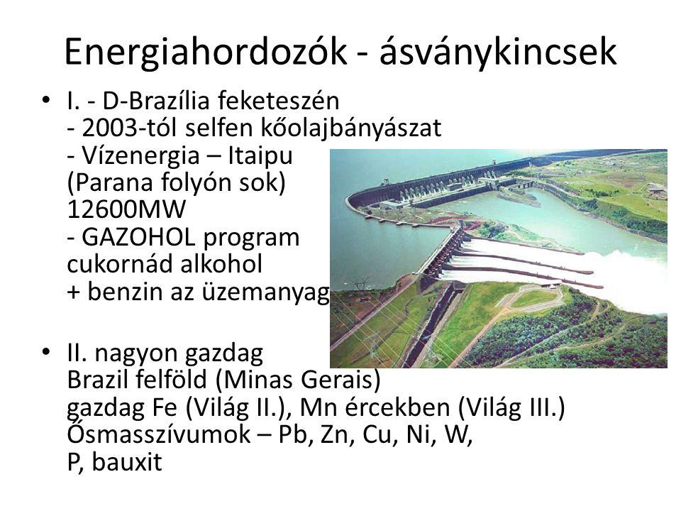 Energiahordozók - ásványkincsek