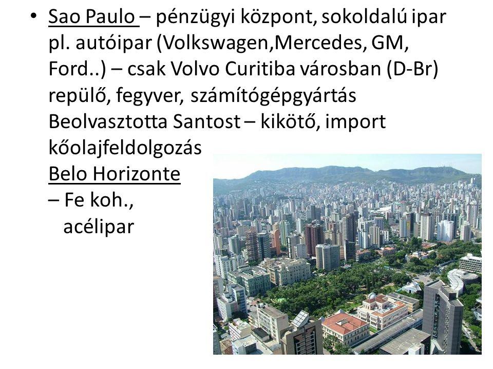 Sao Paulo – pénzügyi központ, sokoldalú ipar pl