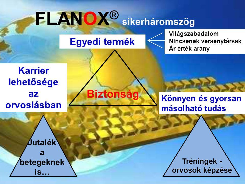 FLANOX® sikerháromszög Karrier lehetősége az orvoslásban
