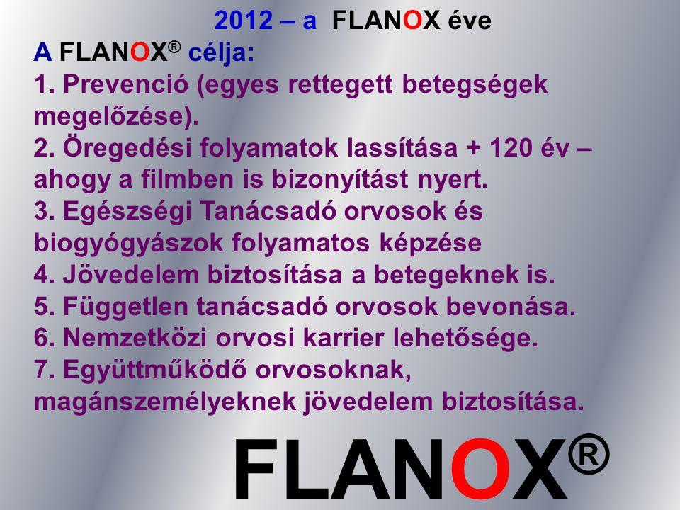 FLANOX® 2012 – a FLANOX éve A FLANOX® célja:
