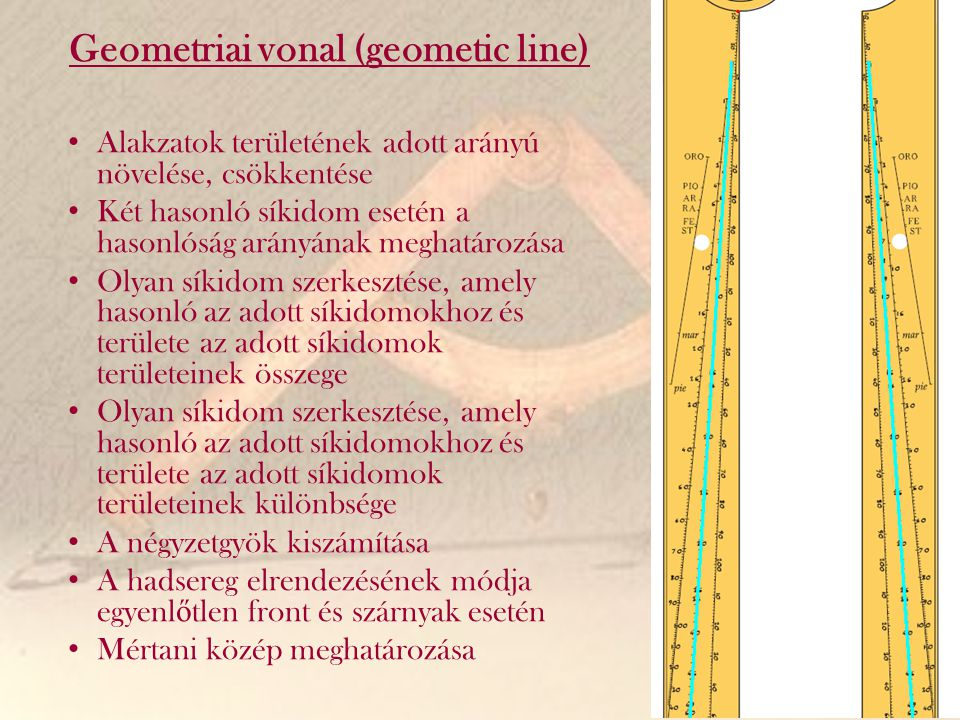 Geometriai vonal (geometic line)