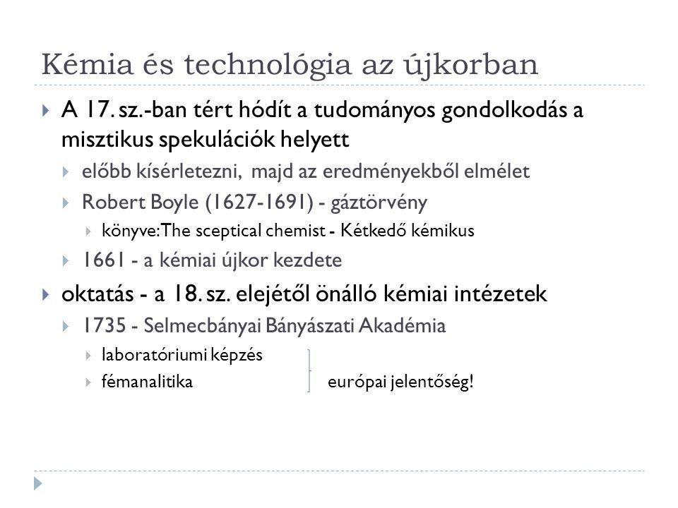 Kémia és technológia az újkorban