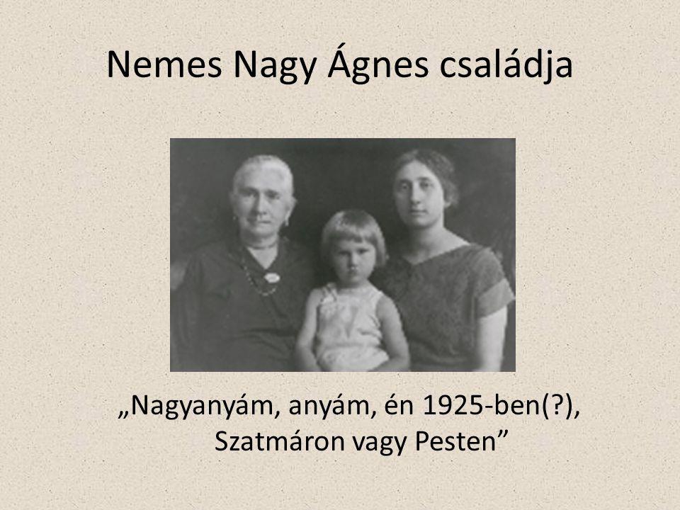Nemes Nagy Ágnes családja