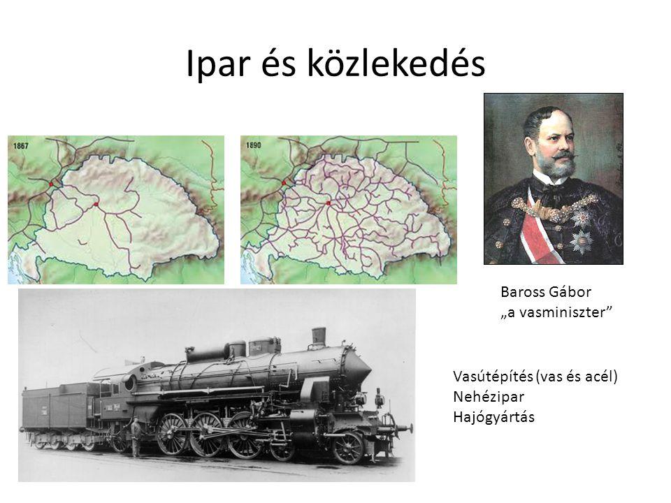 """Ipar és közlekedés Baross Gábor """"a vasminiszter"""
