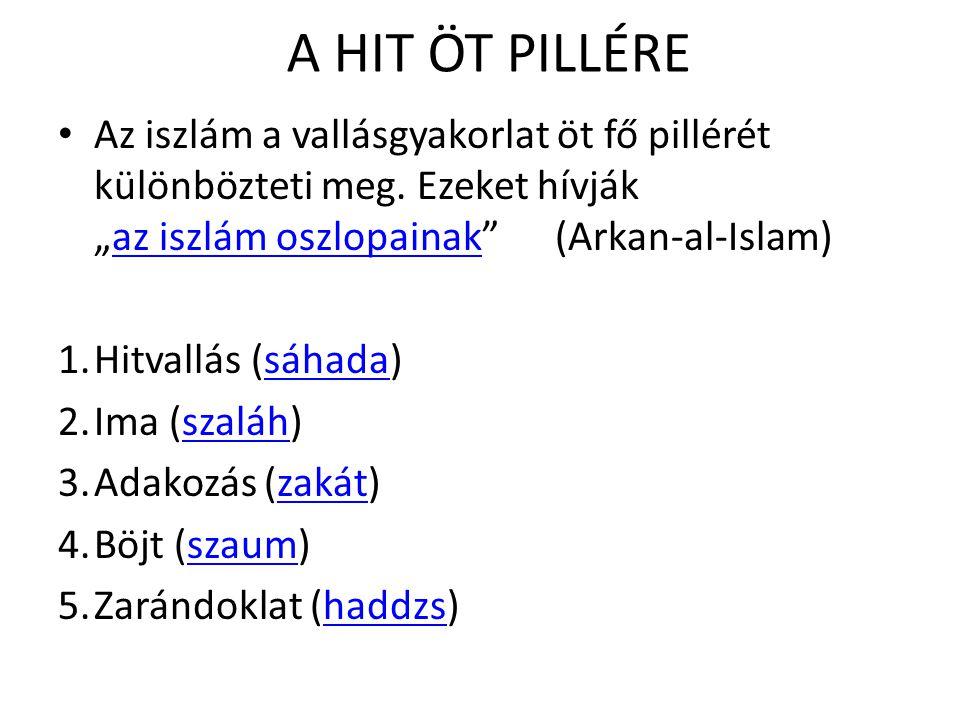 A HIT ÖT PILLÉRE