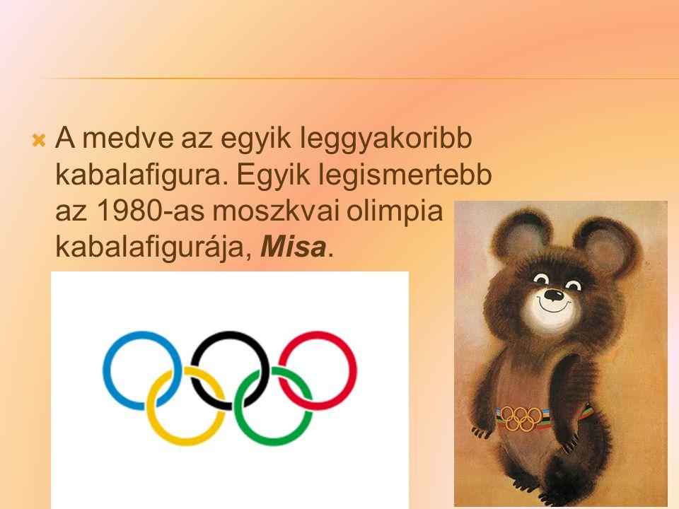 A medve az egyik leggyakoribb kabalafigura