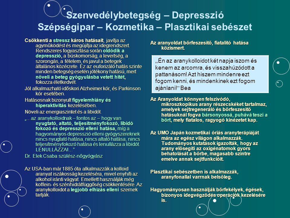 Szenvedélybetegség – Depresszió Szépségipar – Kozmetika – Plasztikai sebészet