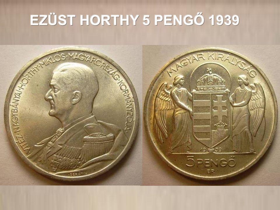 EZÜST HORTHY 5 PENGŐ 1939