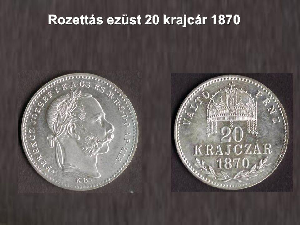 Rozettás ezüst 20 krajcár 1870