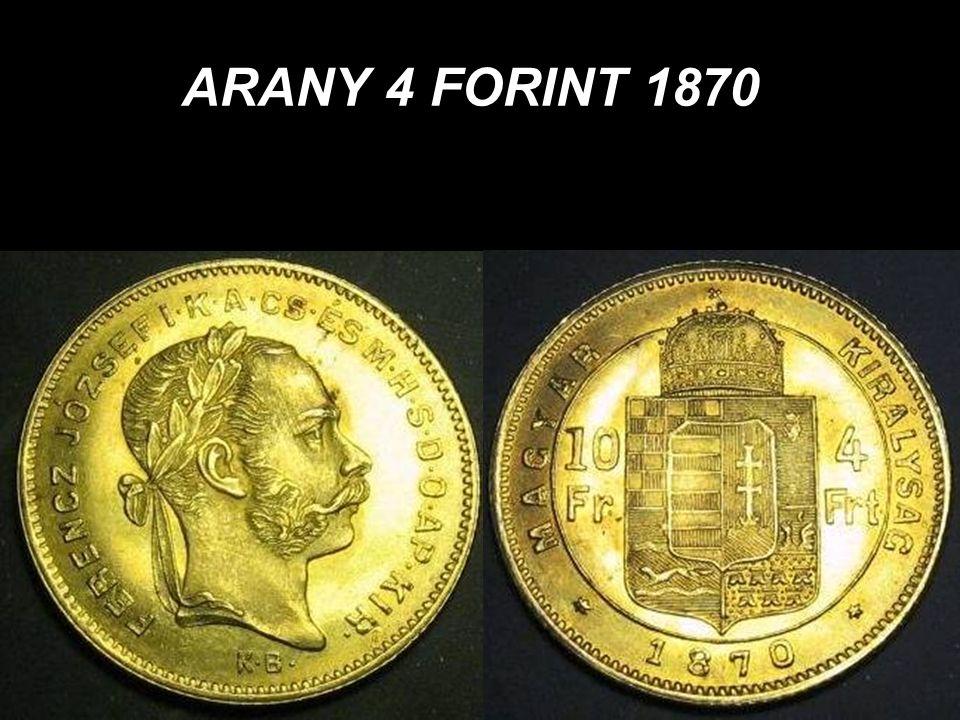 ARANY 4 FORINT 1870