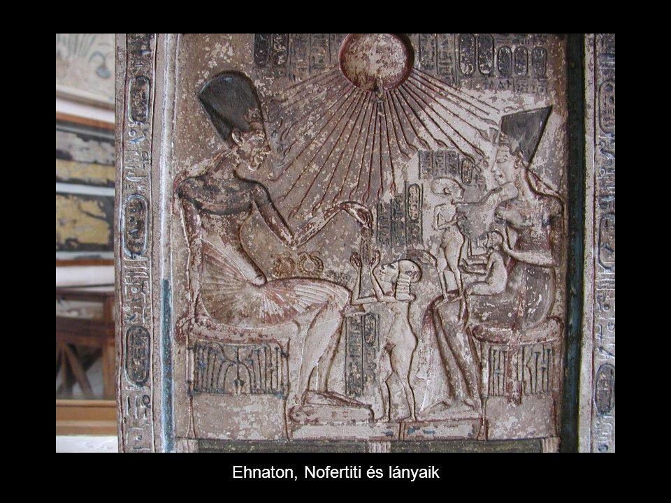 Ehnaton, Nofertiti és lányaik