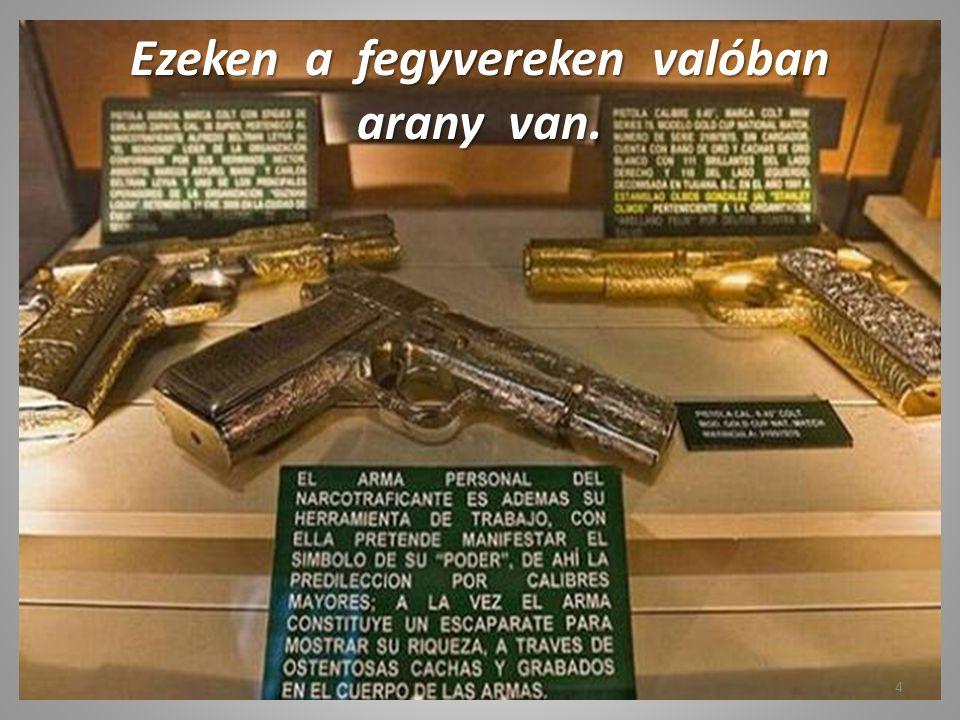 Ezeken a fegyvereken valóban arany van.
