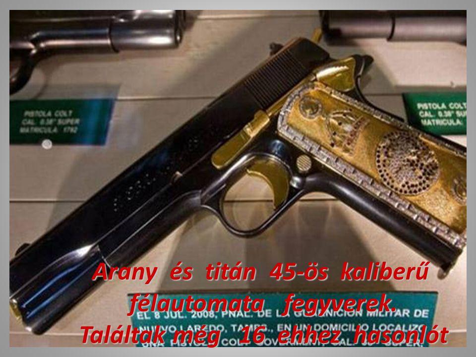 Arany és titán 45-ös kaliberű félautomata fegyverek