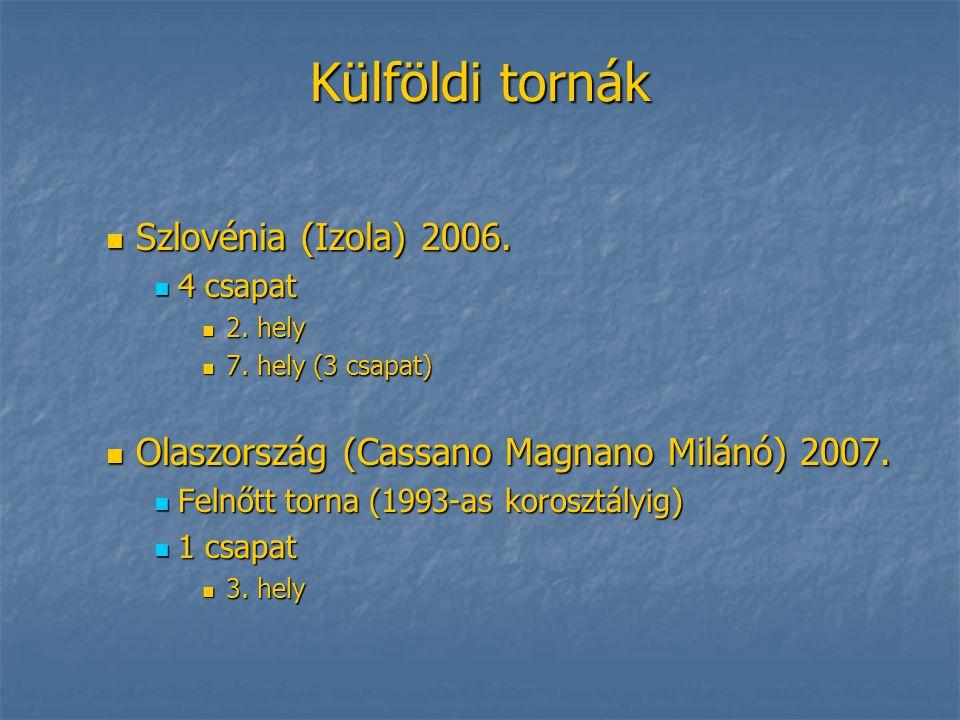 Külföldi tornák Szlovénia (Izola) 2006.