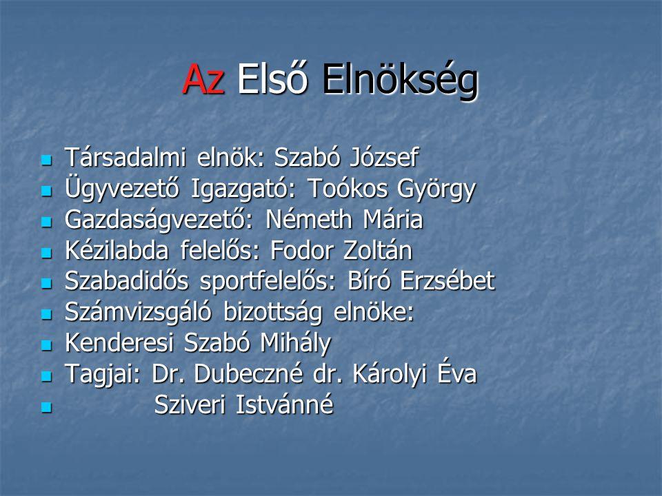 Az Első Elnökség Társadalmi elnök: Szabó József