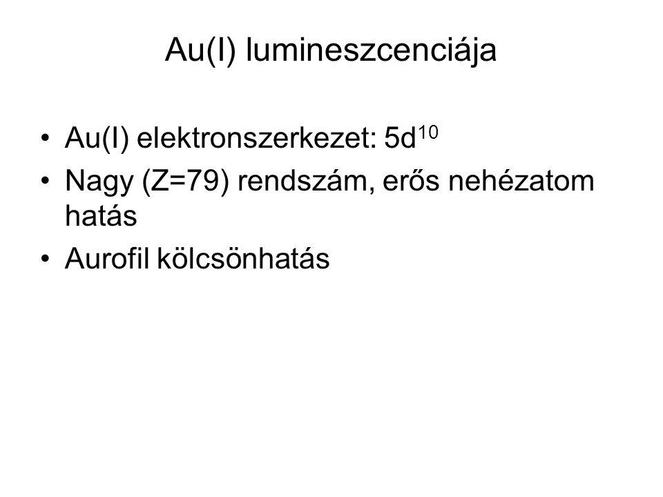 Au(I) lumineszcenciája