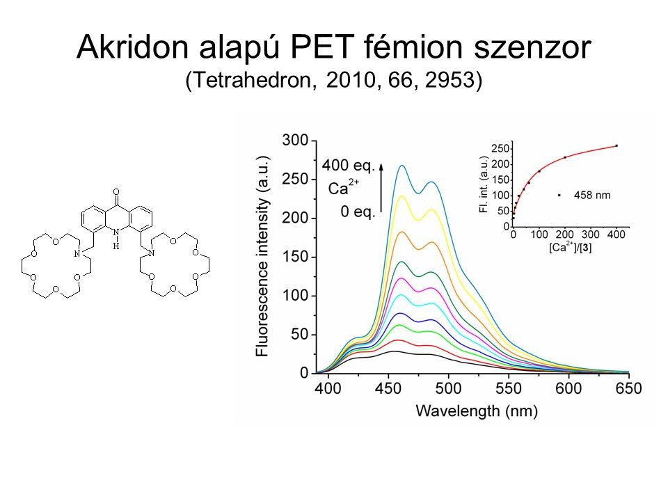 Akridon alapú PET fémion szenzor (Tetrahedron, 2010, 66, 2953)