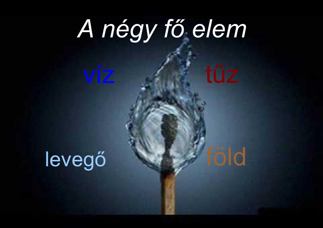 A négy fő elem víz tűz föld levegő