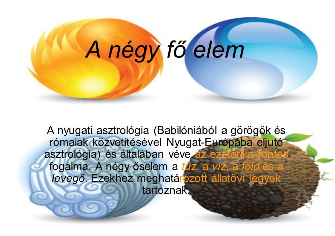 A négy fő elem