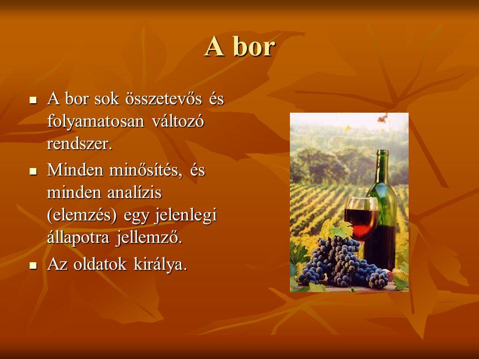 A bor A bor sok összetevős és folyamatosan változó rendszer.