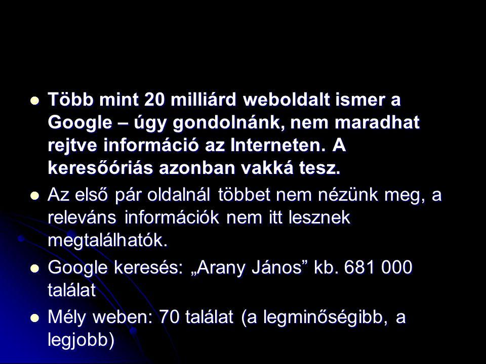 Több mint 20 milliárd weboldalt ismer a Google – úgy gondolnánk, nem maradhat rejtve információ az Interneten. A keresőóriás azonban vakká tesz.