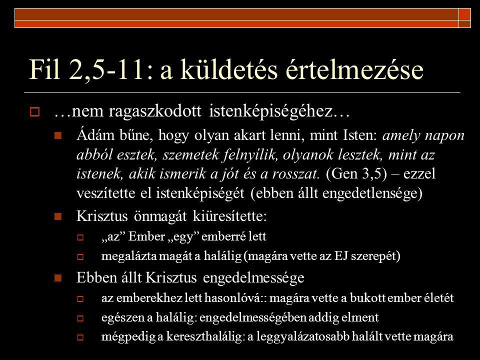 Fil 2,5-11: a küldetés értelmezése