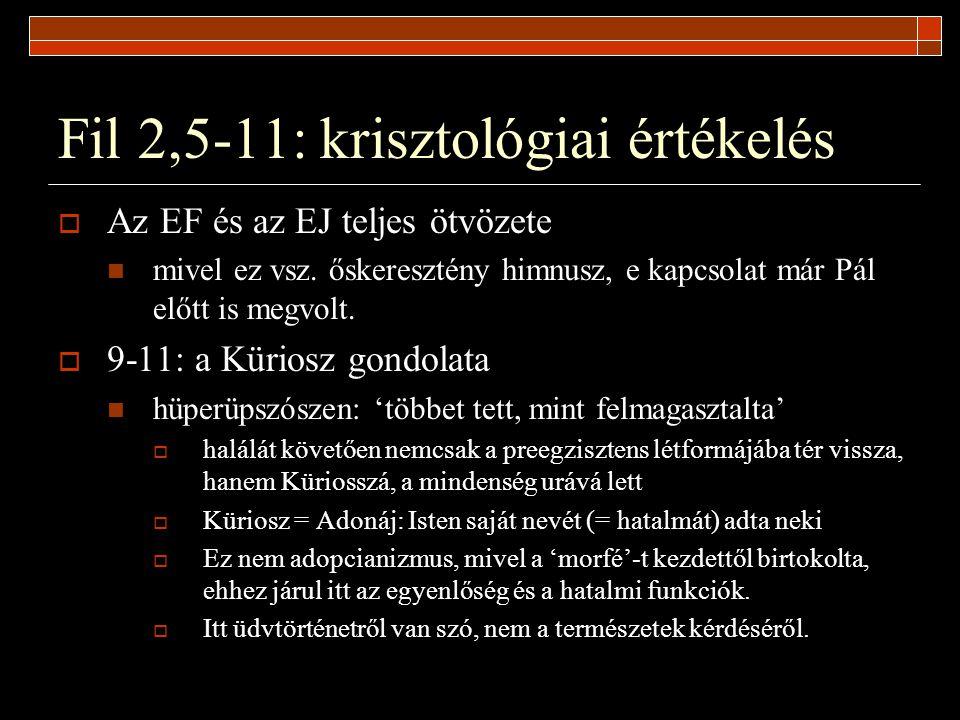 Fil 2,5-11: krisztológiai értékelés