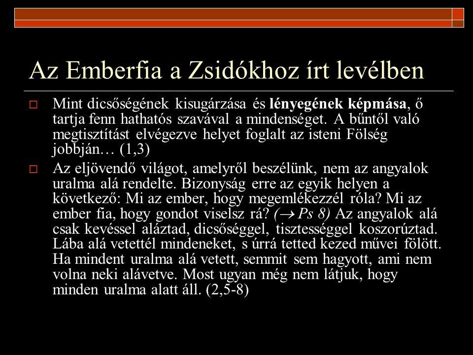 Az Emberfia a Zsidókhoz írt levélben