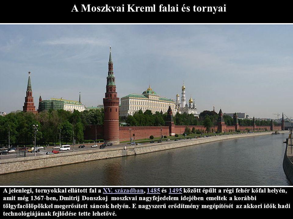A Moszkvai Kreml falai és tornyai
