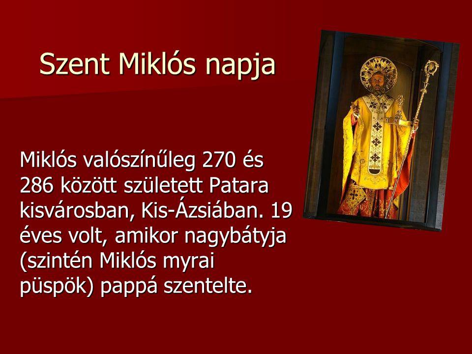 Szent Miklós napja