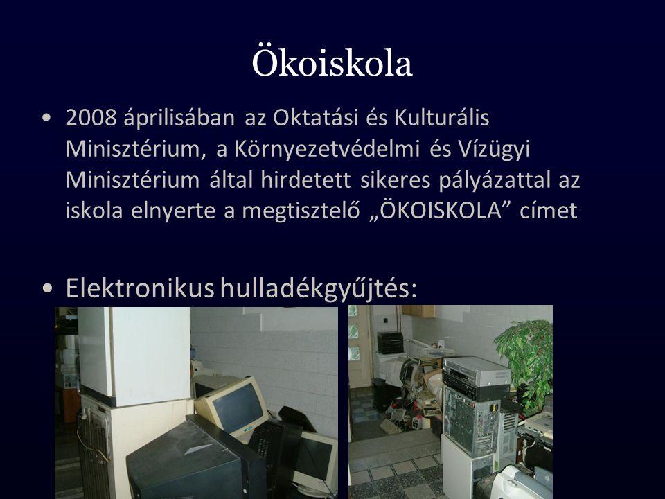Ökoiskola Elektronikus hulladékgyűjtés: