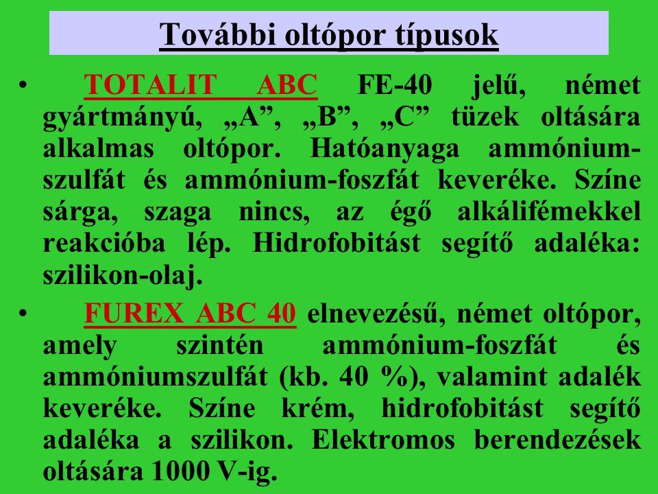 További oltópor típusok