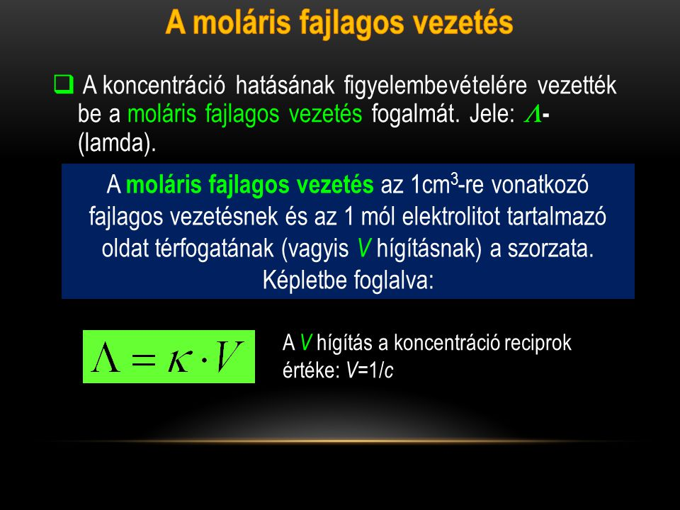 A moláris fajlagos vezetés