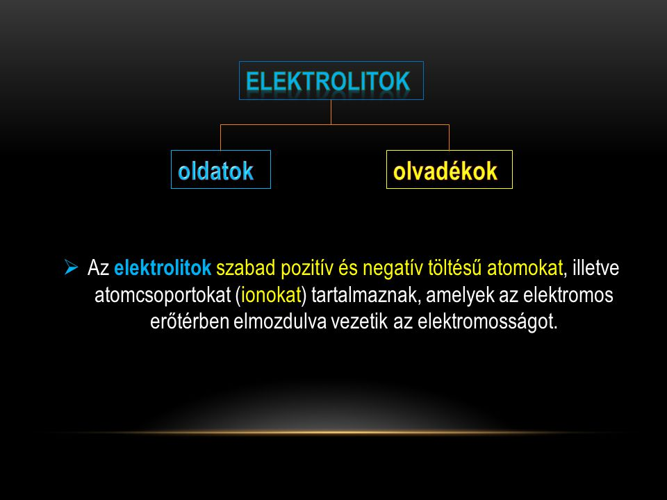 elektrolitok oldatok olvadékok
