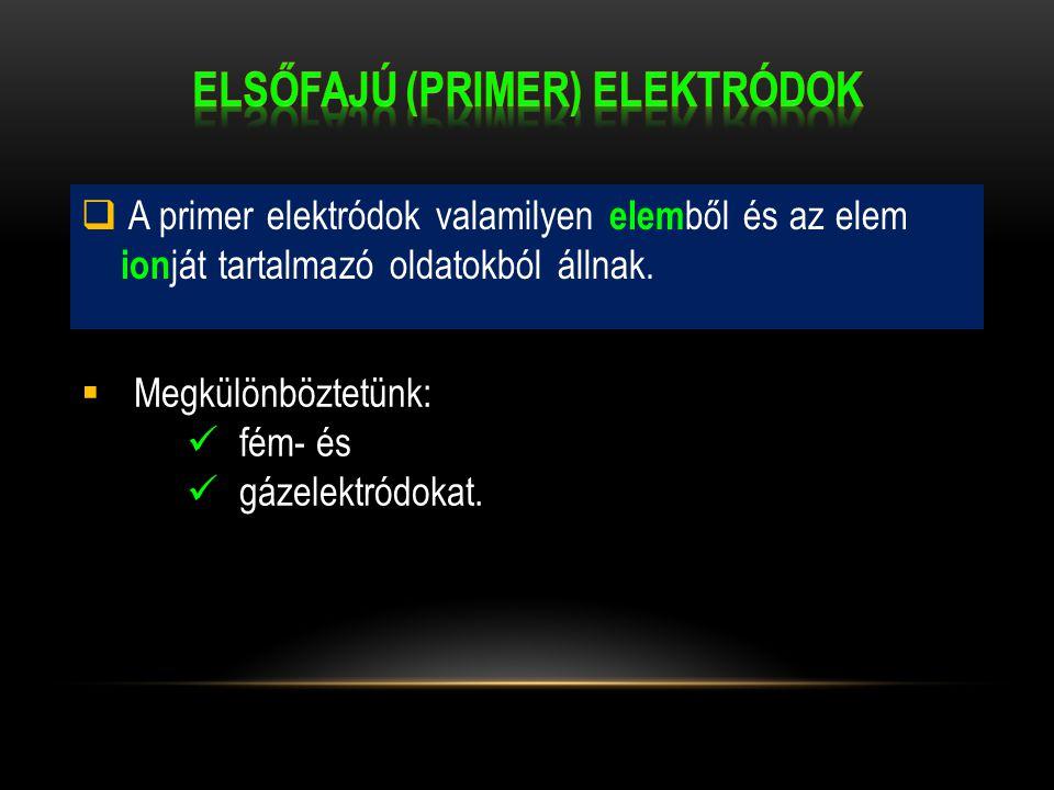 Elsőfajú (primer) elektródok