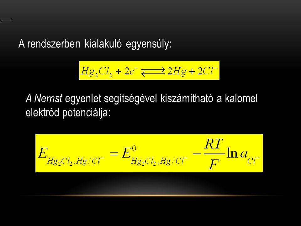 A rendszerben kialakuló egyensúly: