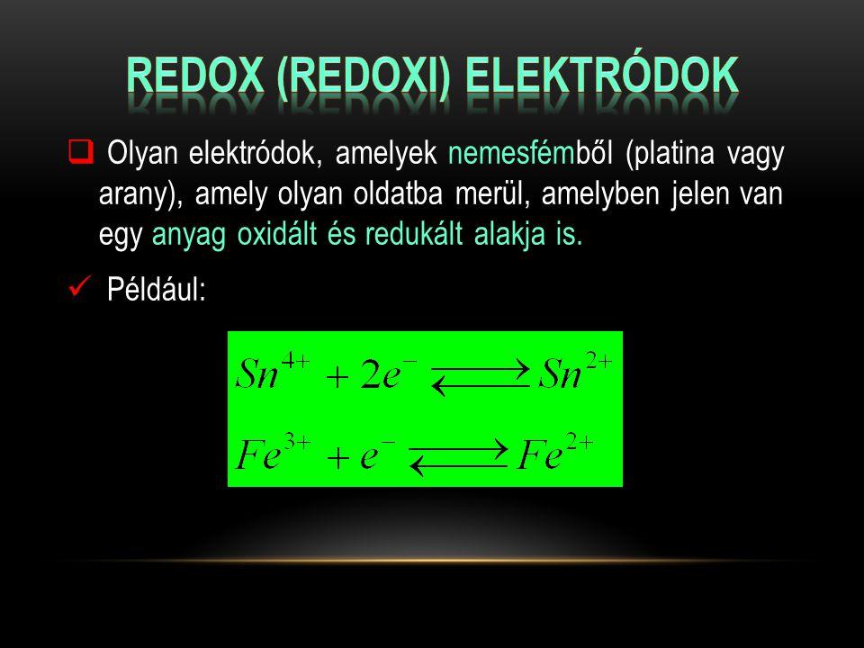 Redox (redoxi) elektródok