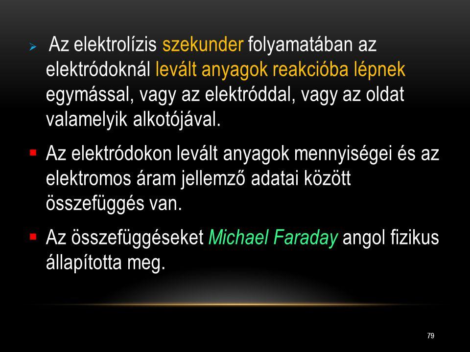 Az összefüggéseket Michael Faraday angol fizikus állapította meg.