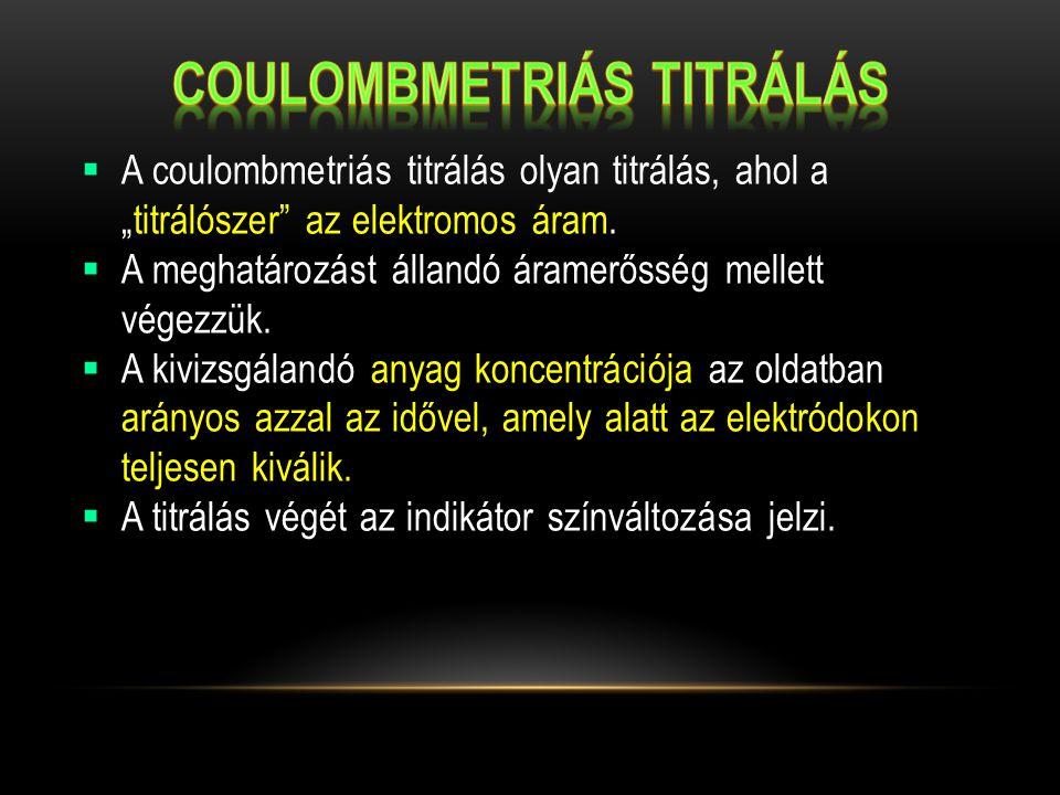 Coulombmetriás titrálás