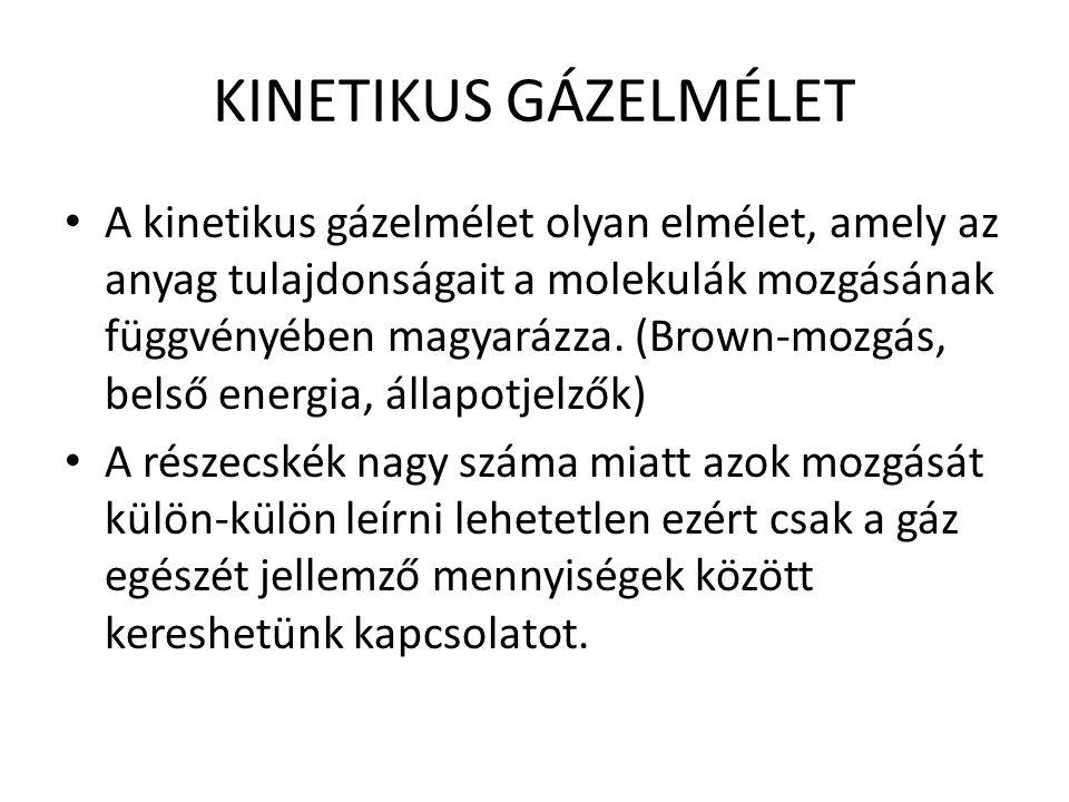 KINETIKUS GÁZELMÉLET