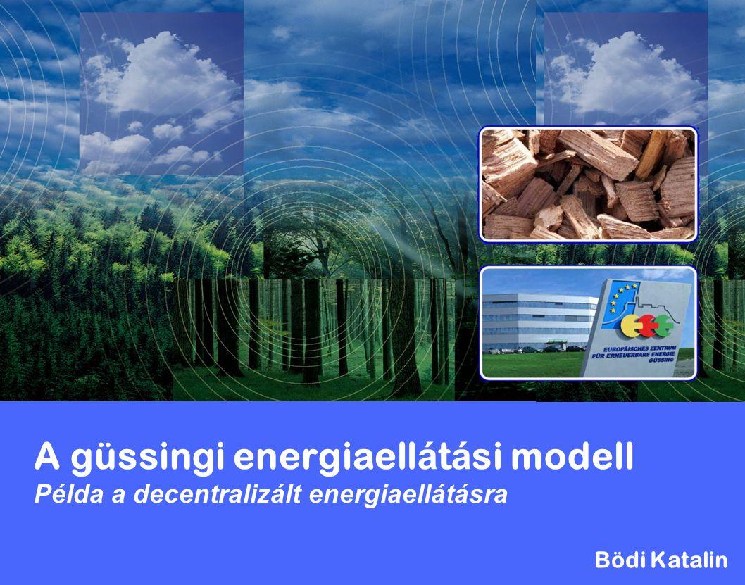 A güssingi energiaellátási modell Példa a decentralizált energiaellátásra