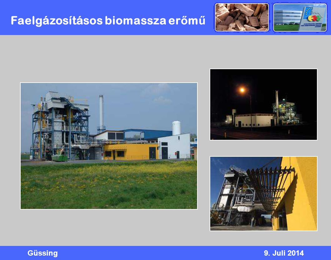 Faelgázosításos biomassza erőmű