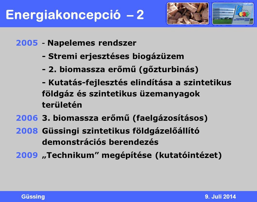 Energiakoncepció – 2 2005 - Napelemes rendszer