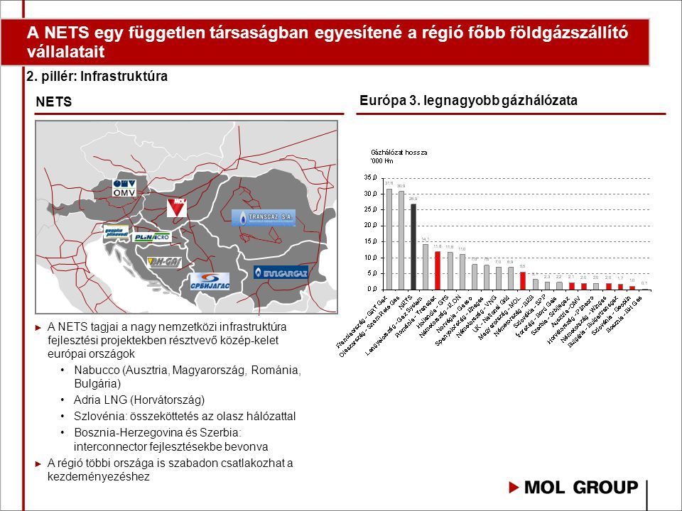 A NETS egy független társaságban egyesítené a régió főbb földgázszállító vállalatait