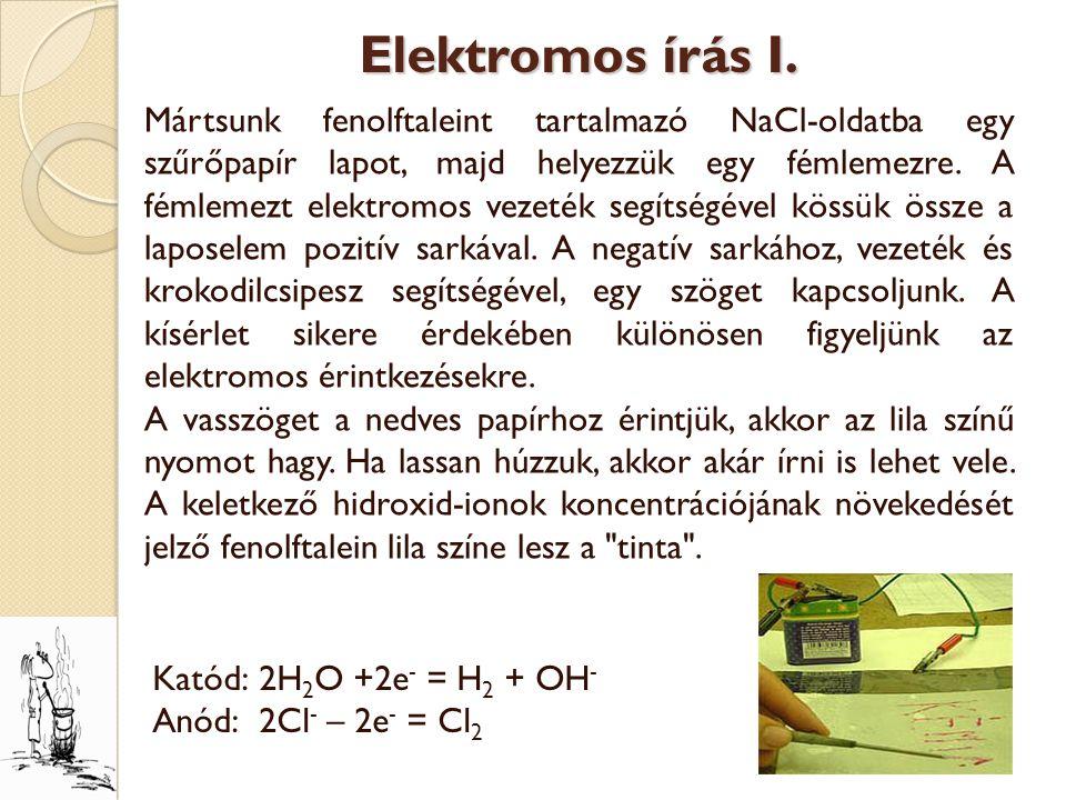 Elektromos írás I.