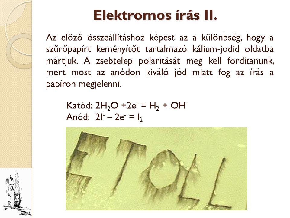 Elektromos írás II.