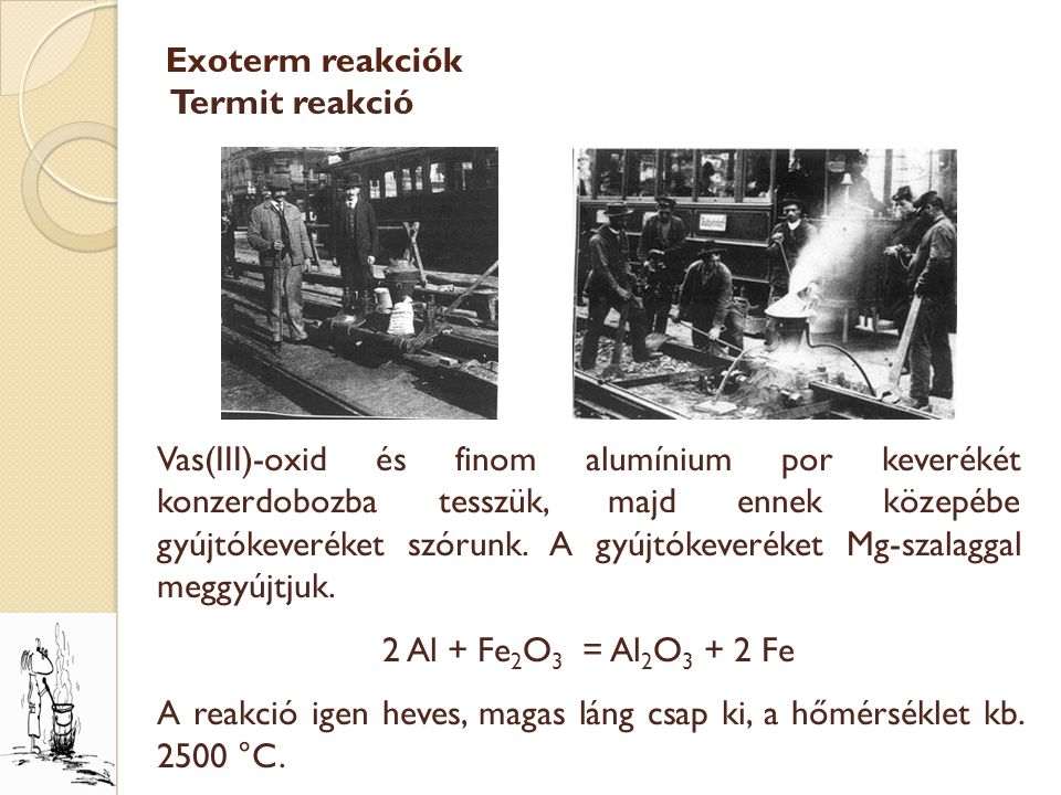 Exoterm reakciók Termit reakció