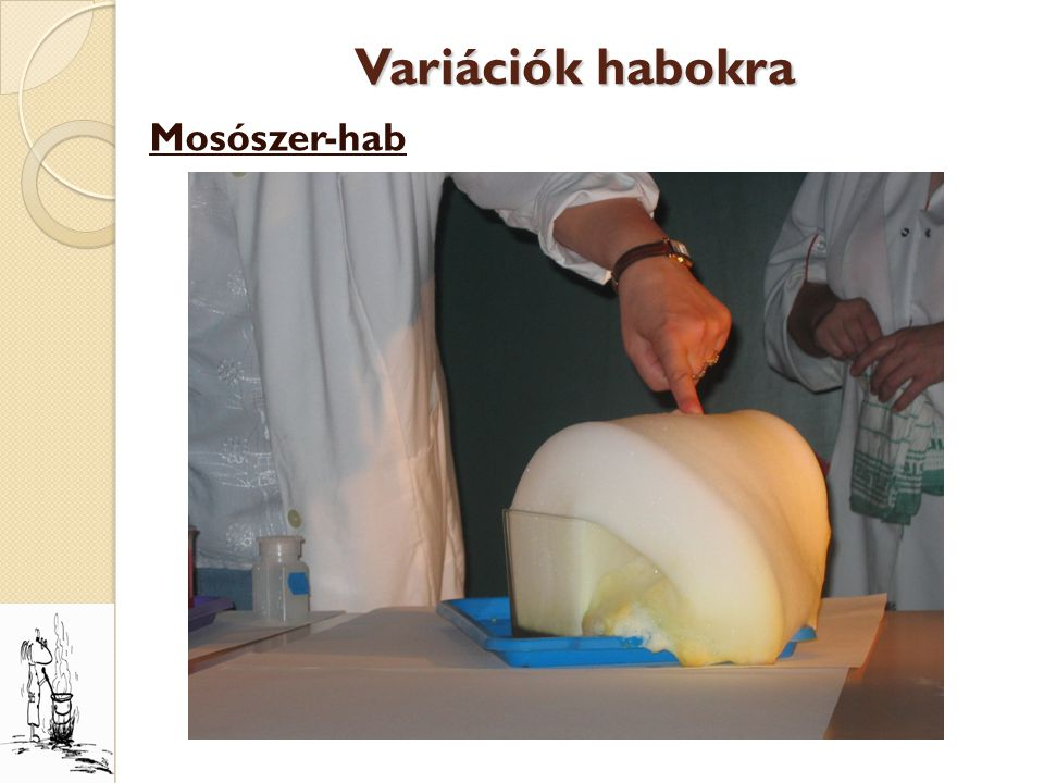 Variációk habokra Mosószer-hab