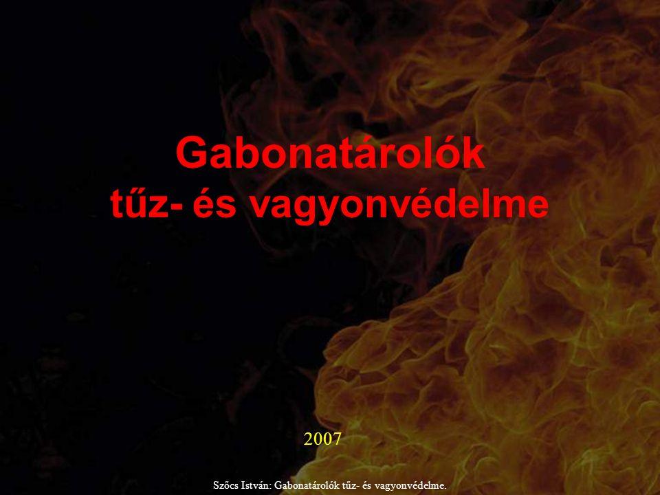 Gabonatárolók tűz- és vagyonvédelme